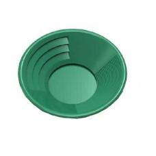 "10"" Gold Pan, Dual Riffles (3"" x 1/4"" Deep Riffles, Micro Riffles), Plastic Body, green Color"